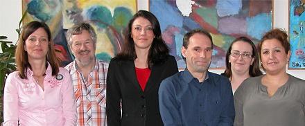 V. l. n. r.: Murielle Pirotte, Josef Duppach, Sandra Breuer, Frank Radermacher, Silvana Buschke, Birgül Bulut