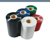 Coloured thermal transfer ribbons